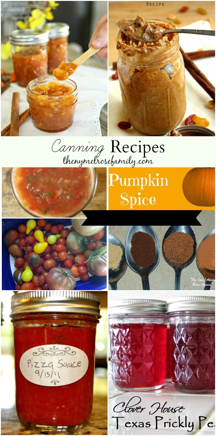 Canning Recipes collected by The NY Melrose Family