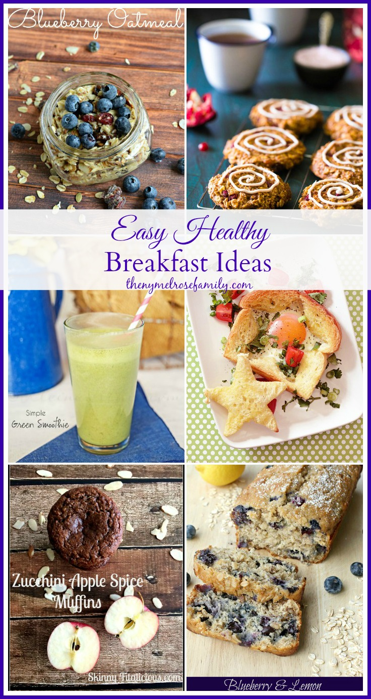 Easy Healthy Breakfast Ideas Collected by The NY Melrose Family