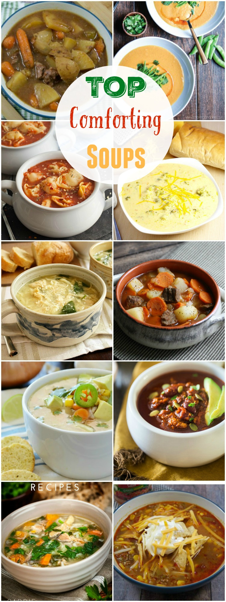 Top Comforting Soups that will get you through the chilly weeknights.