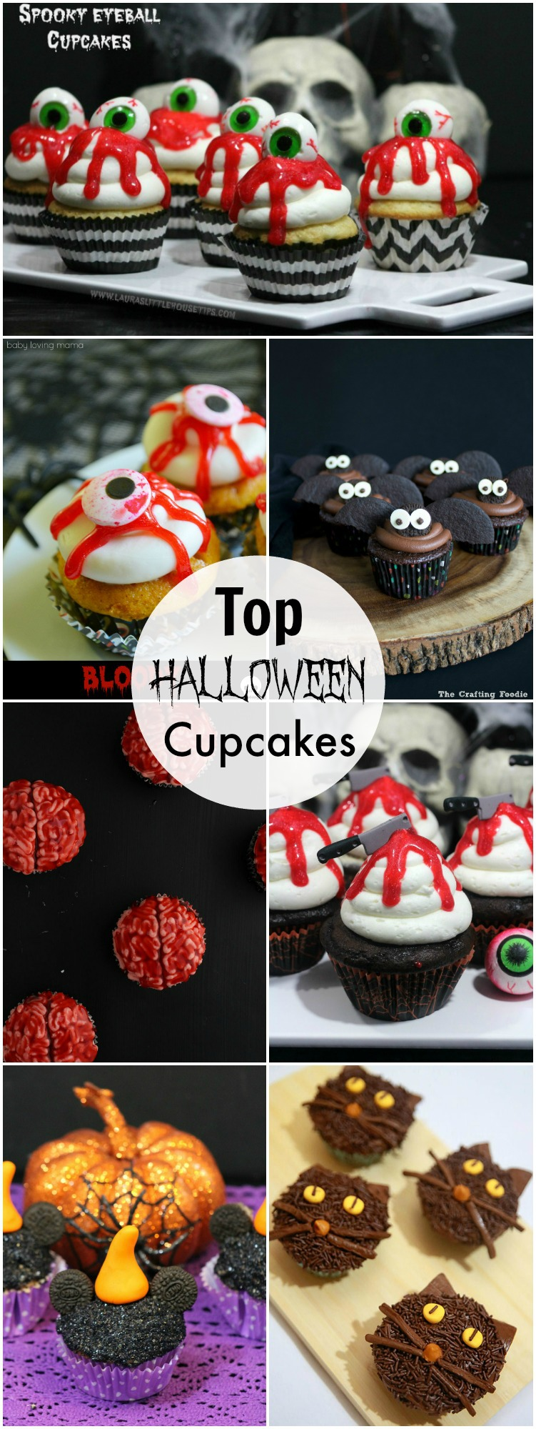 Top Halloween Cupcakes that are the perfect cupcakes for any Halloween party.