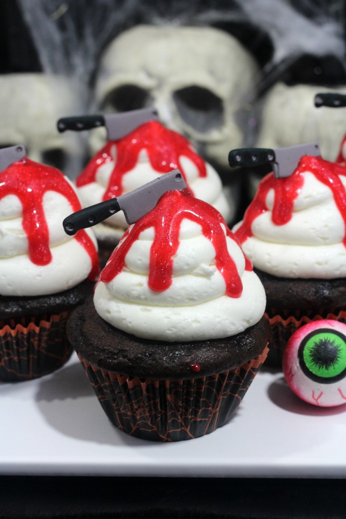 Bloody Knife Cupcakes by My Thoughts, Ideas and Ramblings