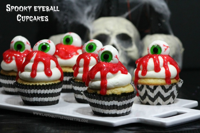 Spooky Eyeball Cupcakes by Laura's Little House Tips