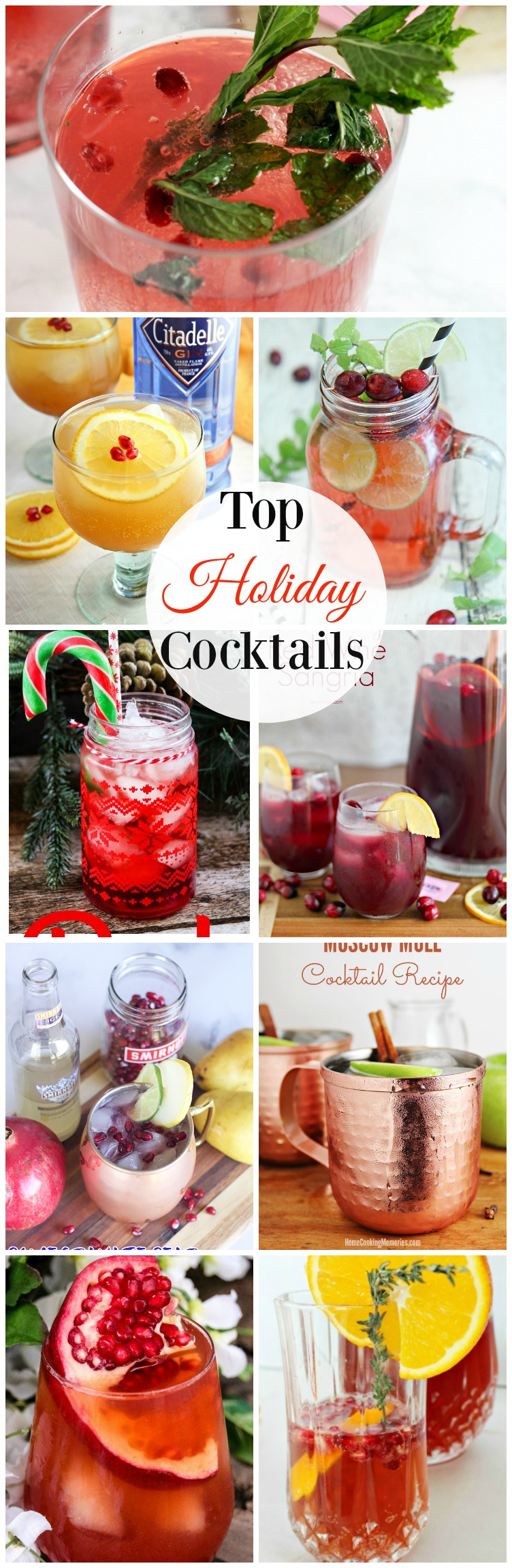 Top Holiday Cocktails perfect for every celebration.