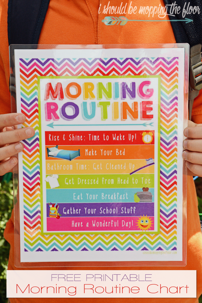 It's just an image of Hilaire Printable Morning Routine Chart