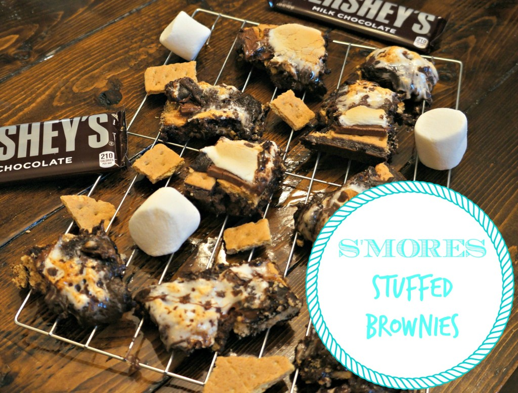 S'mores Stuffed Brownies by Spoons of Grace