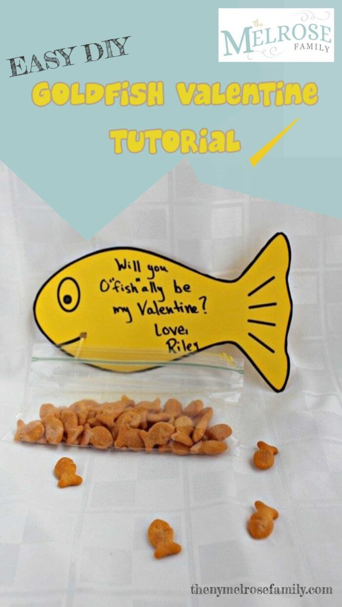 DIY Goldfish Valentine Tutorial from The NY Melrose Family