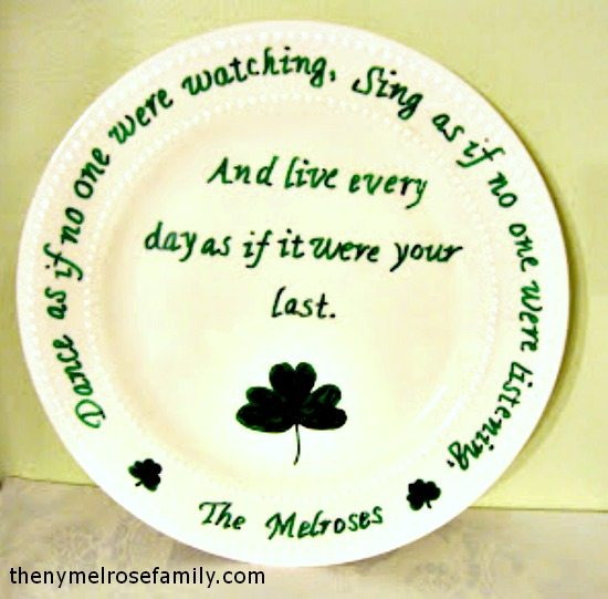 Shamrock & Irish Blessing Plate
