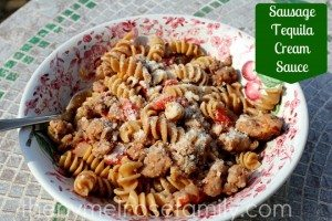 pasta with sausage tequila cream sauce