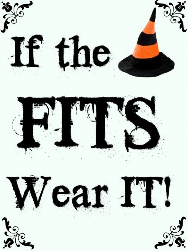 If the Hat Fits: Free Halloween Printable