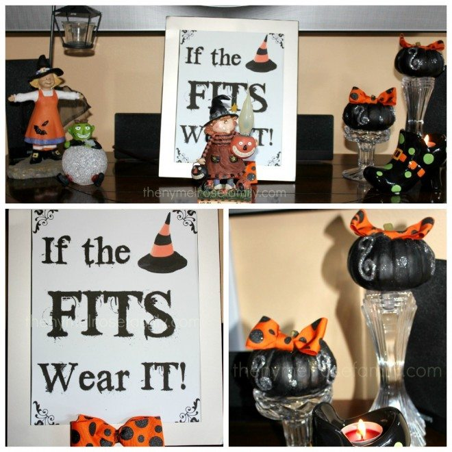 Witchy Mantle: Halloween Mantle with Free Printable