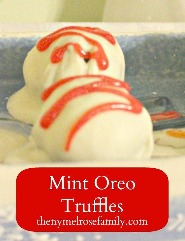Mint Oreo Truffles for christmas