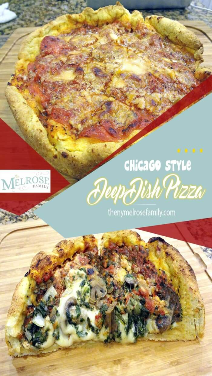 Chicago Style Deep Dish Pizza by Made in a Day