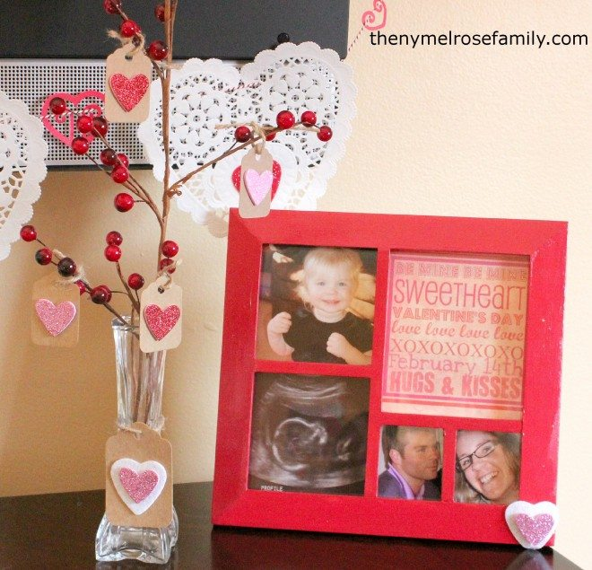 Tree with Valentine Picture Frame