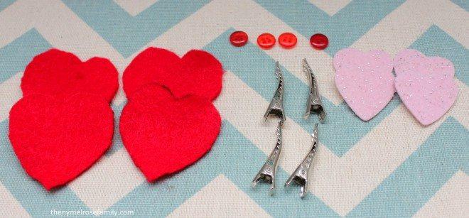 Valentine Hair Clip Supplies