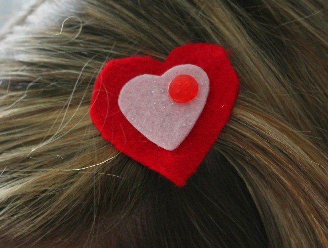 Valentine Hair Clip Worn