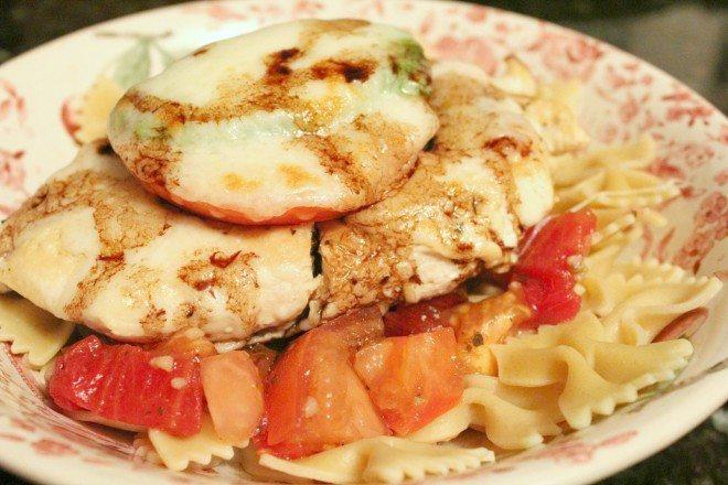 Bruschetta Chicken Pasta w Balsamic Reduction