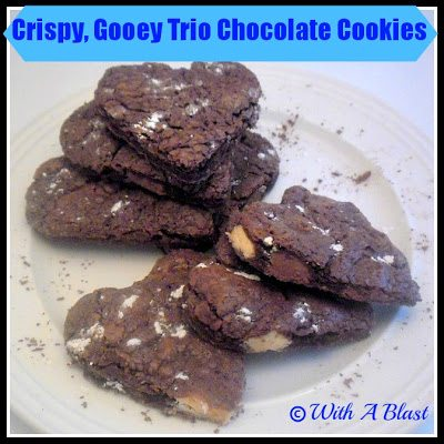 Crispy, Gooey Trio Chocolate Cookies