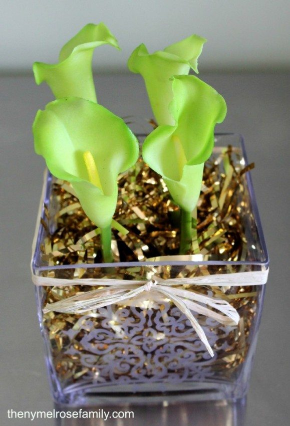 Etched St. Patrick's Day Centerpiece
