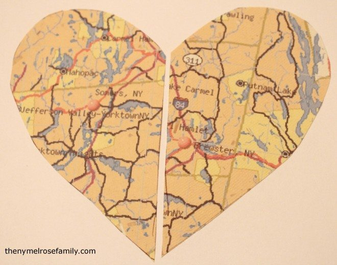Heart Map Engagement Gift Map Pieces