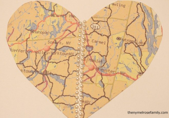 Heart Map Engagement Gift Pieces Together