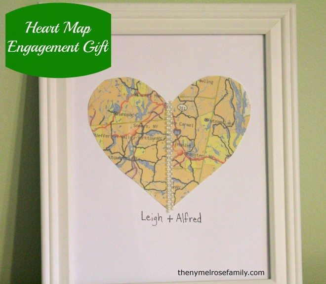 Heart Map Gift Engagement Gift The Melrose Family