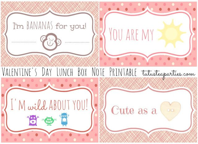 Valentine's Day Lunchbox Printables Title