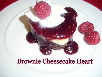 brownie cheesecake heart