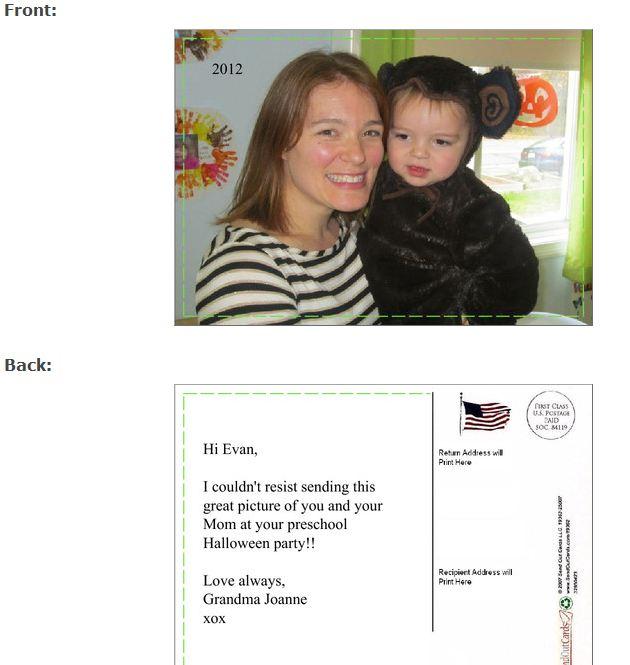 card to Evan