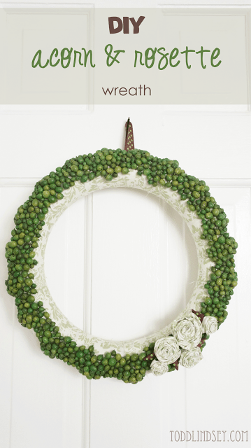 diy acorn rosette wreath