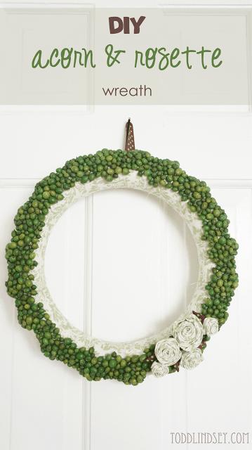 diy acorn rosette wreath