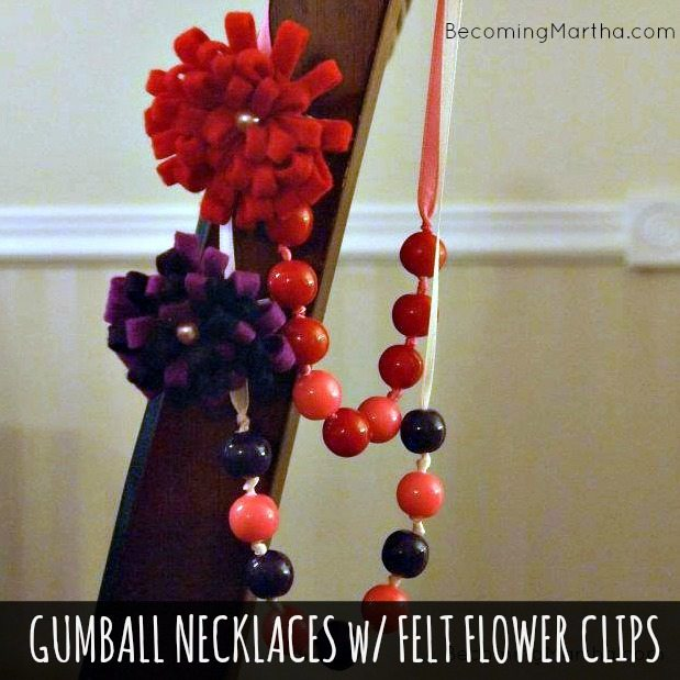 gumball necklace valentine