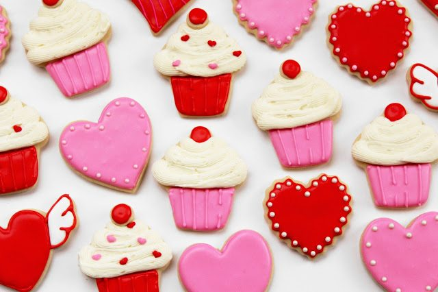 heart & cupcake cookies