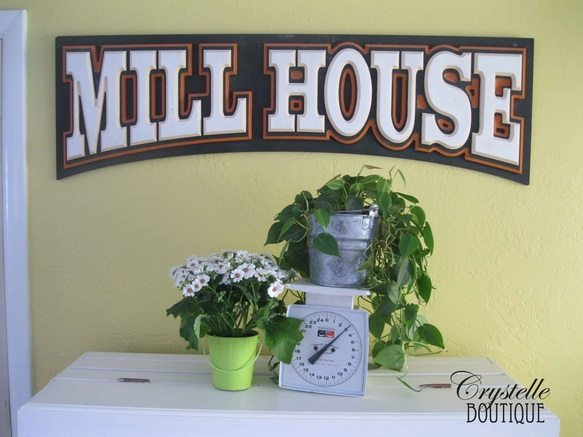 mill house wall sign