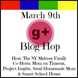 G+ Blog Hop Button for March