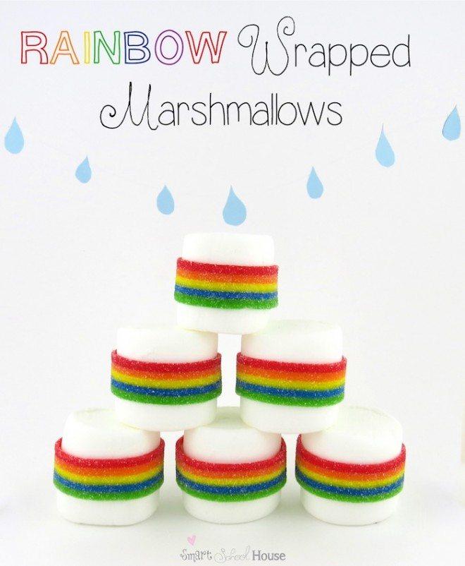 Rainbow Wrapped Marshmallows1