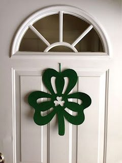cheap shamrock wreath