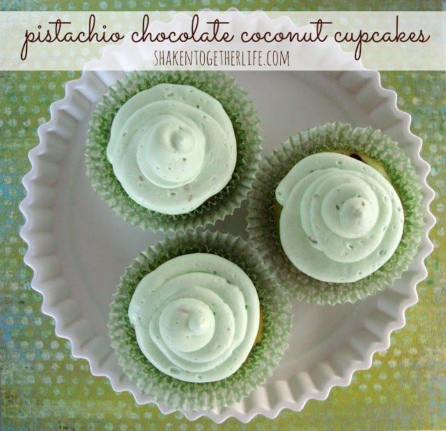 pistachio chocolate coconut cupcakes BLOG