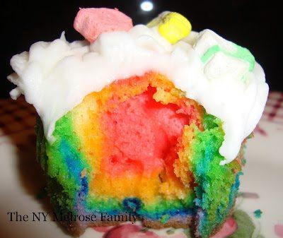 rainbow treat cupcakes