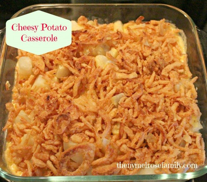 Cheesy Potato Casserole with French's Fried Onions | The NY Melrose ...