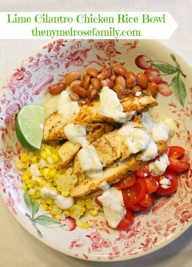 Lime-Cilantro-Chicken-Rice-Bowl