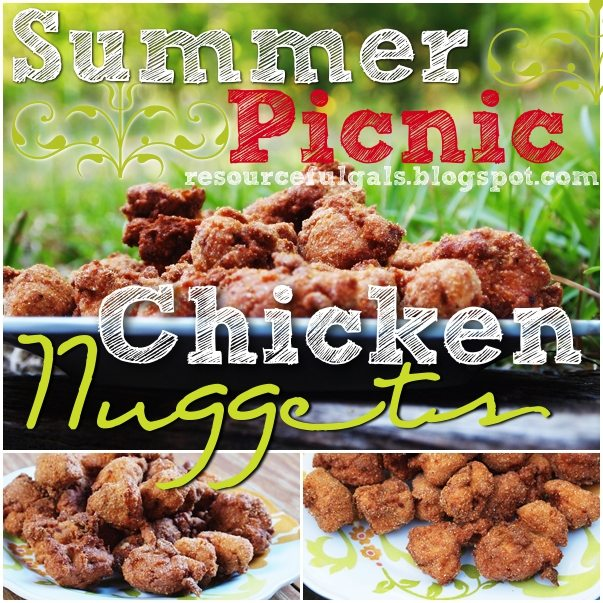 Summer Picnic Chicken Nuggets Collage