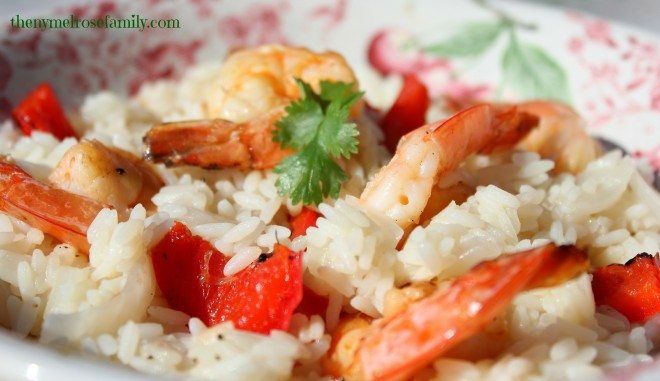 Lime Parmesan Risotto with Shrimp