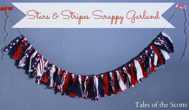 Stars & Stripes Scrappy Garland 6