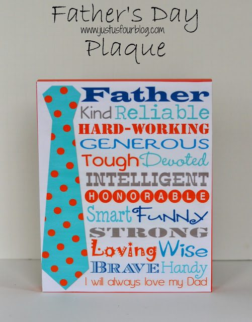 fathers day plaque