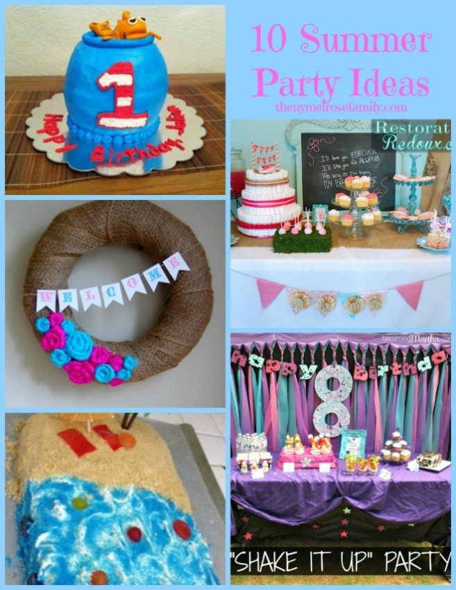 10 Summer Party Ideas