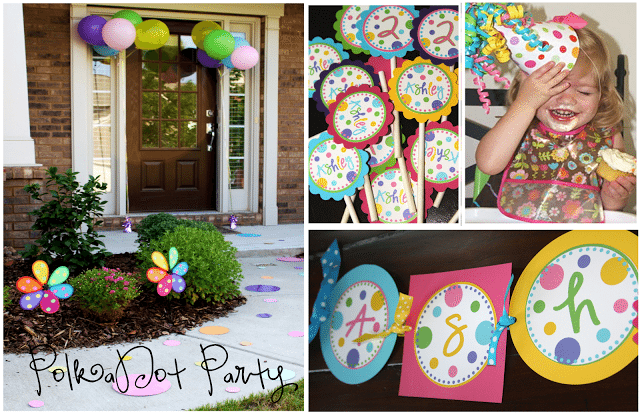 Ashley's Polka Dot Party Blog Collage Front Door