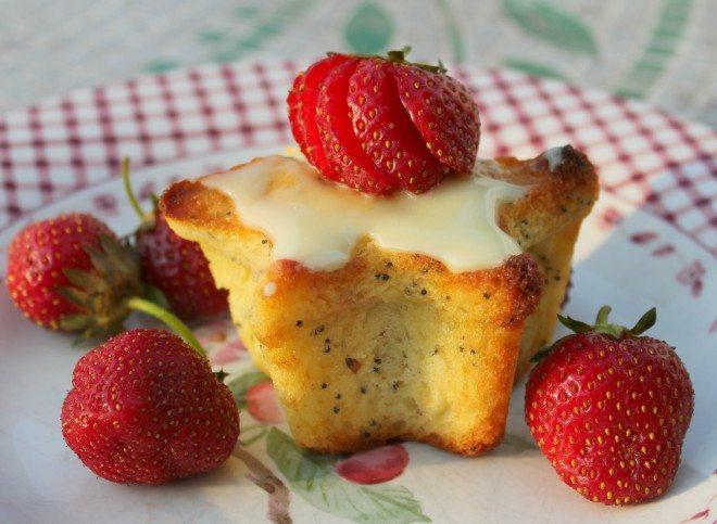 Lemon Poppy Seed Star Muffins