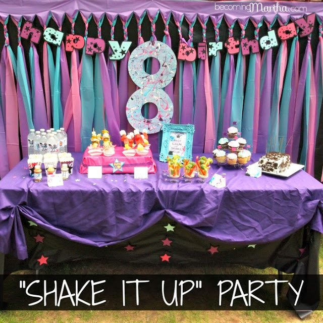 shake it up 8th birthday party