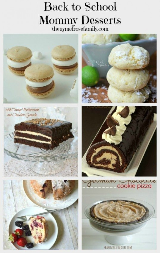 Back to School Mommy Desserts