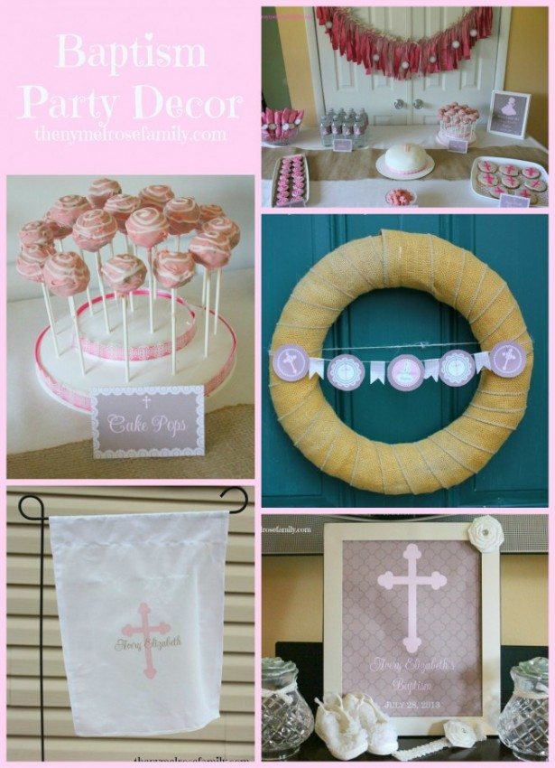 Baptism Party Decor